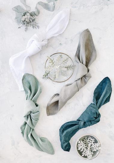 serviette-lin-bleu-gris-vert